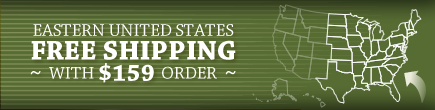 Eastern United States - Free Shipping with $159 order!