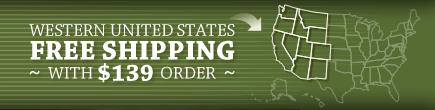 Western United States - Free Shipping with $139 order!