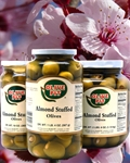 Almond Stuffed Olives - Thrown Packed