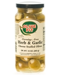 Herb & Garlic Cheese Stuffed Sicilian Olives