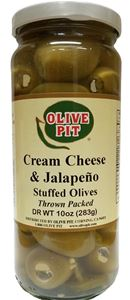 Cream Cheese & Jalapeno Stuffed Olives
