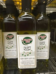 Olive Pit Duet 1st Cold Pressed Organic Extra Virgin Olive Oil