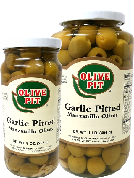 Garlic Pitted Olives