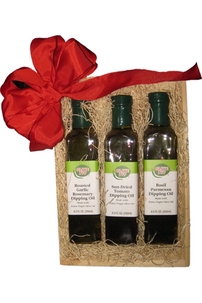 Olive Oil Trio Gift Basket #25