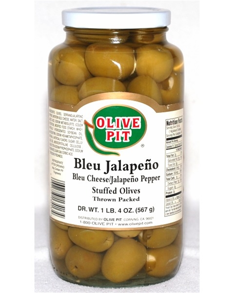 Bleu Jalapeno Stuffed Olives - Thrown Pack - Bleu Cheese & Jalapeño