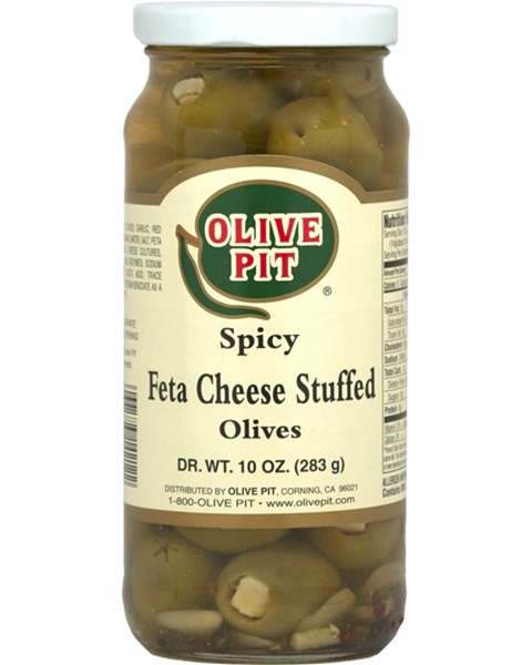 Feta Cheese Stuffed Spicy Olives