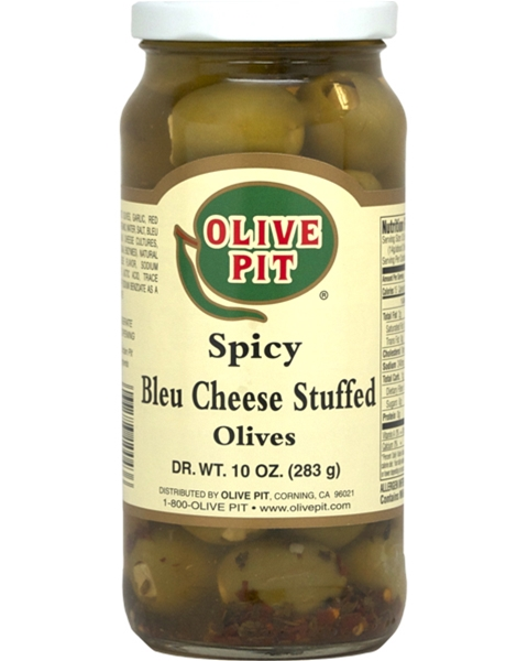 Bleu Cheese Stuffed Spicy Olives