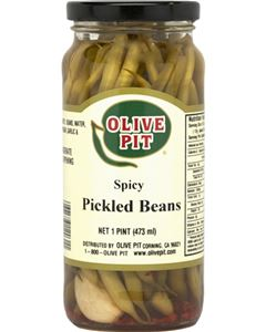 Olive Pit Spicy Pickled Green Beans 12 oz.