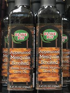 Olive Pit Applewood Mesquite Smoked Flavored Olive Oil