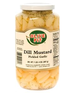 Garlic Pickled-  Dill Mustard