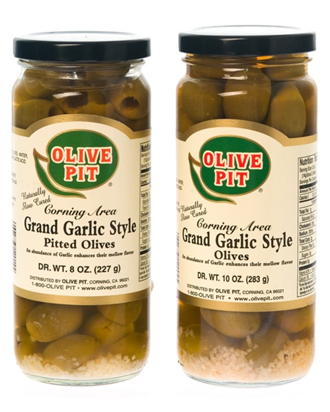 Grand Garlic Style Olives