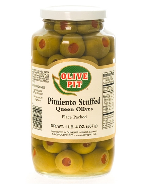 Pimiento Stuffed - Placed Packed (Queen-Large)